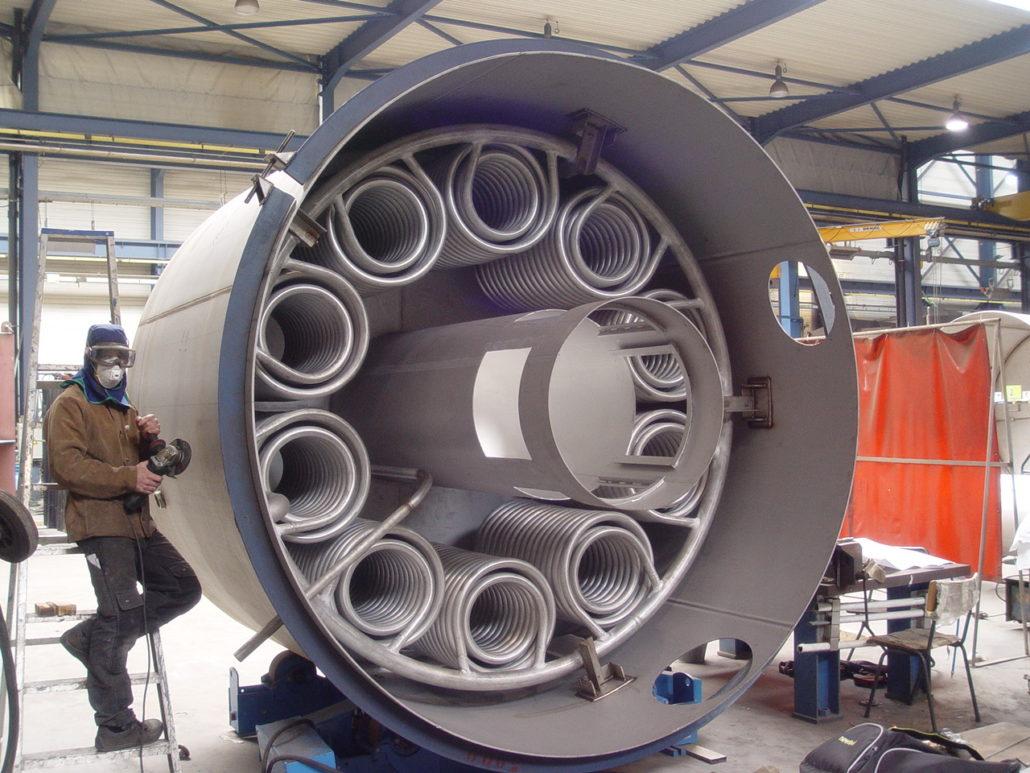Réacteur chauffant
